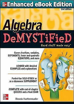 Algebra DeMYSTiFieD, Second Edition by Huettenmueller, Rhonda