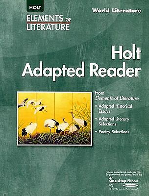 Holt Adapted Reader: World Literature (Elements of Literature), , Very Good Book