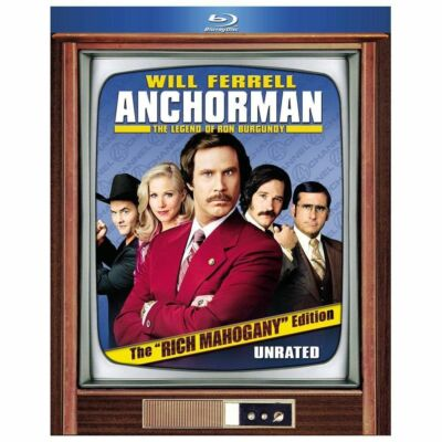"Anchorman: The Legend of Ron Burgundy (Blu-ray Disc, 2010, 2-Disc Set, The ""Rich"