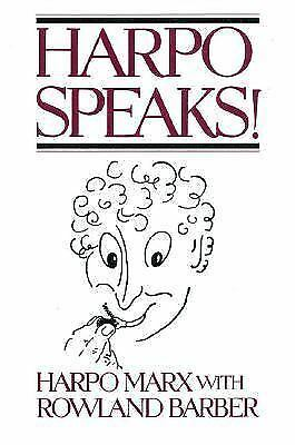 Harpo Speaks! by Marx, Harpo, Barber, Rowland