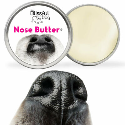 The Blissful Dog JUST A NOSE BUTTER for Dry, Crusty Dog Noses in Tins & Tubes