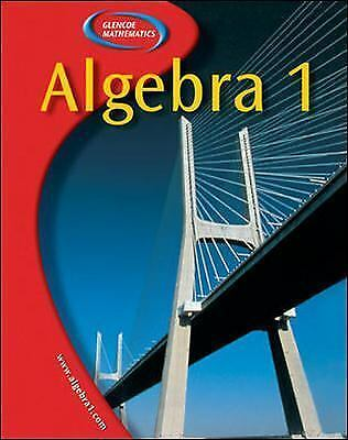 Algebra 1, Student Edition, McGraw-Hill, Good Book