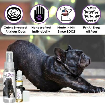 THE BLISSFUL DOG FRENCH BULLDOG RELAX DOG AROMATHERAPY STRESSED, ANXIOUS DOGS
