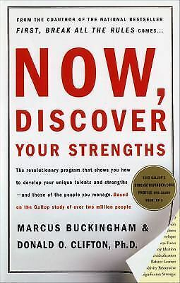 Now, Discover Your Strengths, Marcus Buckingham, Donald O. Clifton, Very Good Bo