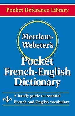 Merriam-Webster's Pocket French-English Dictionary Pocket Reference Library