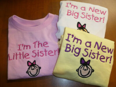 NEW BIG / LITTLE SISTER TODDLER SHORT SLEEVE T - SHIRT