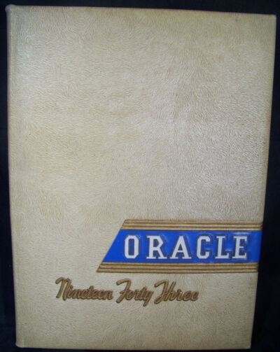 Oracle 1943 Colby College Yearbook from Waterville, Maine.