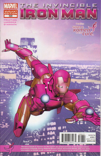 Invincible Iron Man #526 Susan G. Komen For the Cure Pink Variant