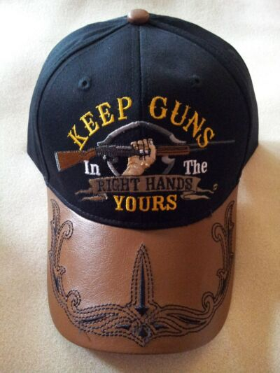 "2ND AMENDMENT ""KEEP GUNS IN THE RIGHT HANDS, YOURS"" Baseball Cap"