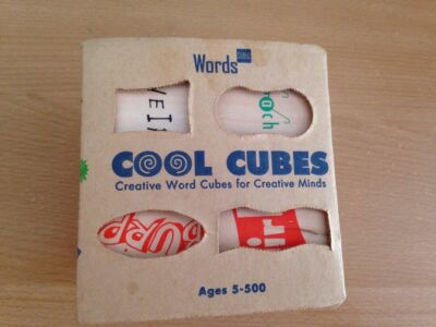 Cool Cubes @1995 USA brain game creative word cubes in box clean