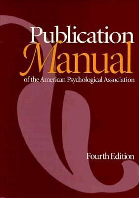 Publication Manual of the American Psychological Association  American Psycholo