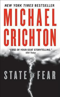 State of Fear, Michael Crichton, Good Condition, Book