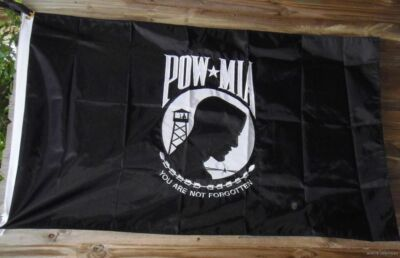 EMBROIDERED 3X5 POW/MIA FLAG MILITARY VIETNAM VET USA us UNITED STATES 2 SIDED