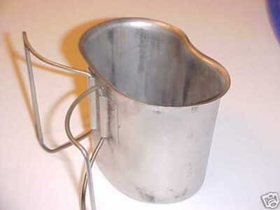 Military Surplus, Canteen Cup, Stainless Steel,Used