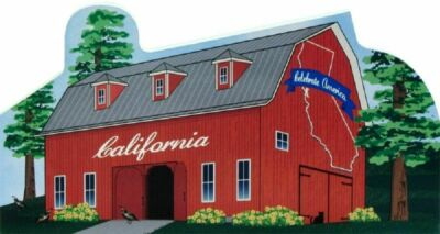 Cat's Meow Village State Barn California Golden State R1496 NEW SHIP DISCOUNTS