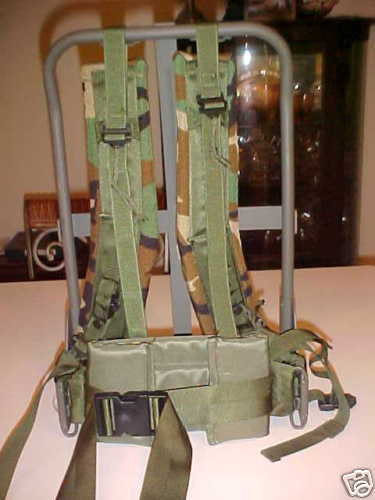 Military Surplus, Alice Pack Frame, with Gear