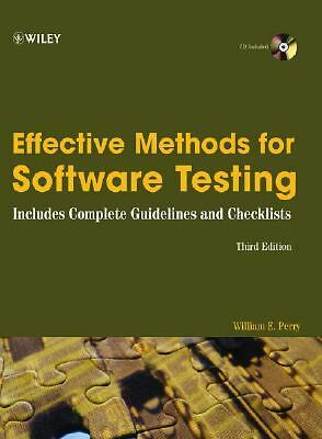 Effective Methods for Software Testing: Includes Complete Guidelines, Checklist