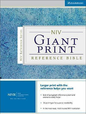NIV Giant Print Reference Bible by Zondervan