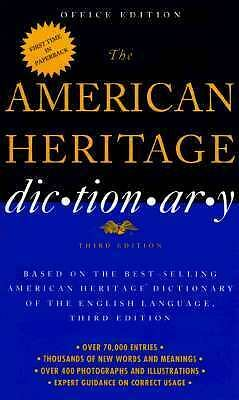 American Heritage Dictionary College, Heritage, American, Good Condition, Book