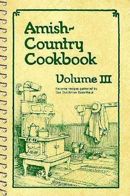 Amish-Country Cookbook, Vol. 3, Miller, Sue, Miller, Bob, Acceptable Book