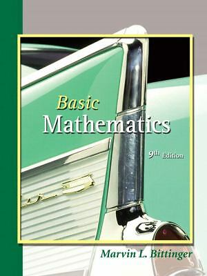 Basic Mathematics (9th Edition), Bittinger, Marvin L., Acceptable Book