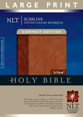 Slimline Center Column Reference Bible NLT, Compact edition, Large Print, TuTon