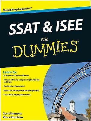SSAT and ISEE For Dummies Kotchian, Vince, Simmons, Curt