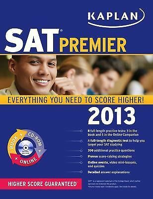 Kaplan SAT 2013 Premier with CD-ROM, Kaplan, Good Condition, Book