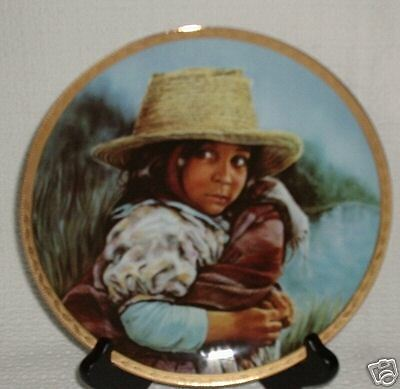 Susie Morton GIRL WITH STRAW HAT 1st Edition Collector Plate NIB
