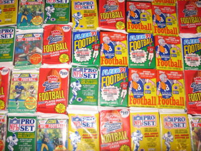 Great Lot of 50 OLD Unopened FOOTBALL Cards in Packs!!