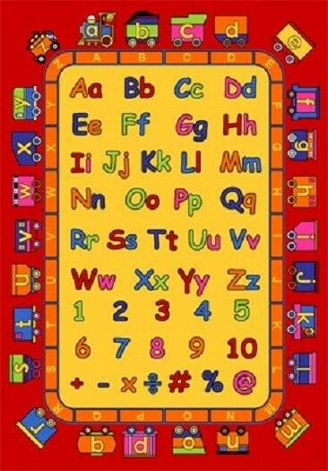 KIDS CHILDREN EDUCATIONAL ALPHABET TRAIN 5 X 7 FUN RUG
