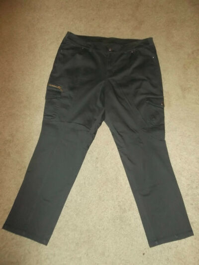 NEW NWT Plus Size 28 Lane Bryant Slate GREY / Dark Grey  Cargo Pants Jeans