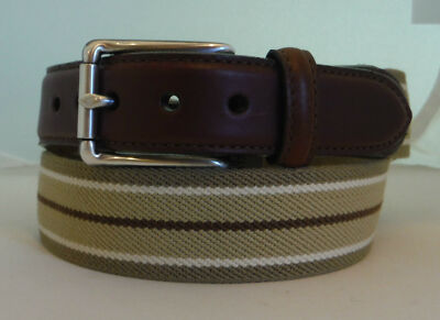 Brighton POWELL FABRIC Leather  Belt Size 30  Multi-Color Made in USA