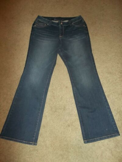 NEW PLUS Size 18 Lane Bryant BOOT CUT  Blue Jeans Denim  FADED
