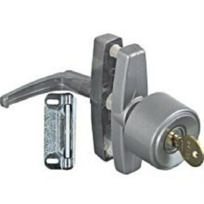 v1308 SCREEN STORM DOOR UNIVERSAL KEYED KNOB LATCH NATIONAL HARDWARE SILVER
