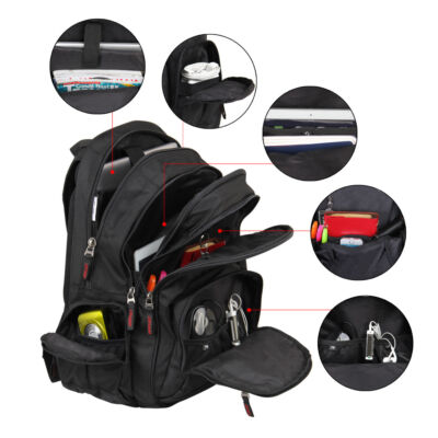 Veevan Professional Business Laptop Backpacks Men's Travel Shoulder Bags Daypack