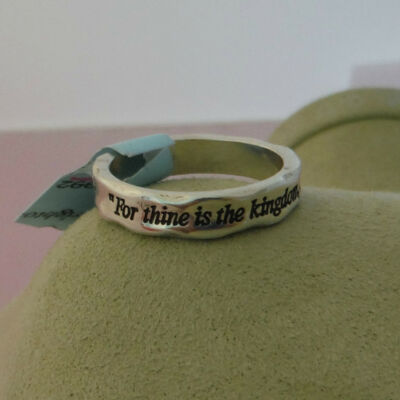 "Brighton Collectibles New ""For Thine"" Statement Silver Plated Ring New with Tags"