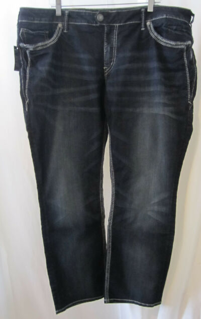 SILVER Brand Tuesday Dark Wash Mid Straight Leg Jeans-Size 24 24W x 30-NEW-NWT