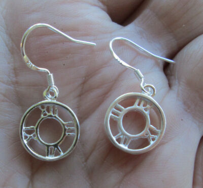 Sterling Silver Clock Earrings