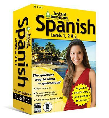 Topics Entertainment Instant Immersion Spanish Levels 1, 2 & 3 (Retail) -...