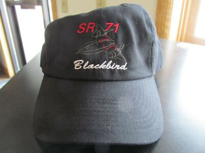 SR-71 Blackbird Military Jet Aircraft Embroidered Black Hat
