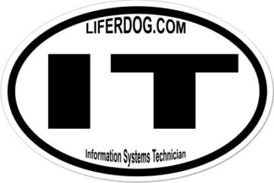 4x6 USN NAVY  INFORMATION SYSTEMS TECHNICIAN  STICKER