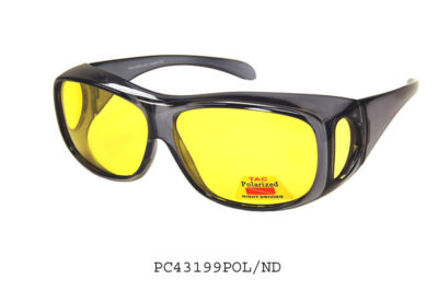 NIGHT DRIVING FITS OVER RX SUN-GLASSES YELLOW VISION; SOME STYLES ARE POLARIZED