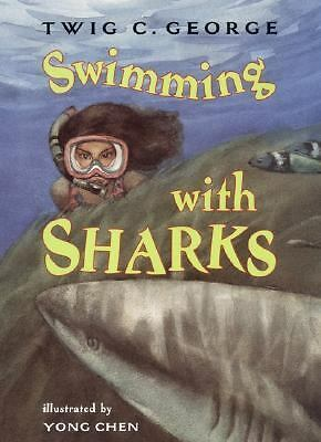 Swimming With Sharks by Twic C. George-Fish, Marine Life-Juvenile $14.95