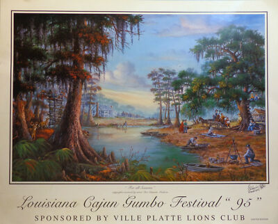 """For All Seasons"" Louisiana Poster for the Gumbo Festival 94"