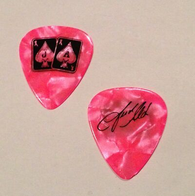 JASON ALDEAN GUITAR Pick PINK Breast Cancer RIBBON Signed Concert Country Music