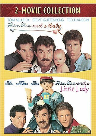 Three Men and a Baby / Three Men and a Little Lady, Good DVD, Tom Selleck, Steve