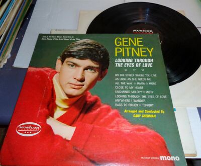 Gene Pitney Musicor LP Record MM2069 Looking Through the Eyes of Love  Mono 1965