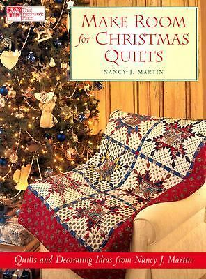 Make Room for Christmas Quilts, Nancy J. Martin, Good Book