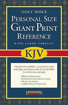 Personal Size Giant Print Reference Bible-KJV (2006, Imitation Leather, Large...